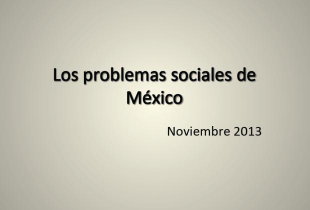 Los Problemas Sociales De México Clara Jusidman