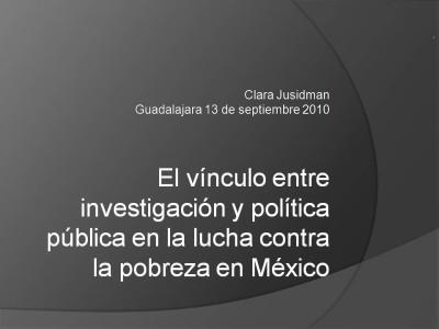 El vínculo entre investigación y política pública foto