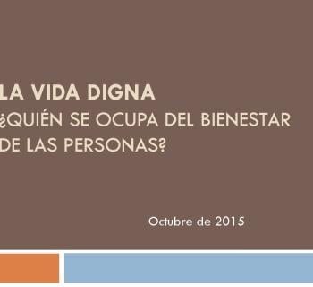 Caratula La vida digna_oct2015